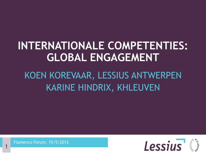 internationale competenties global engagement