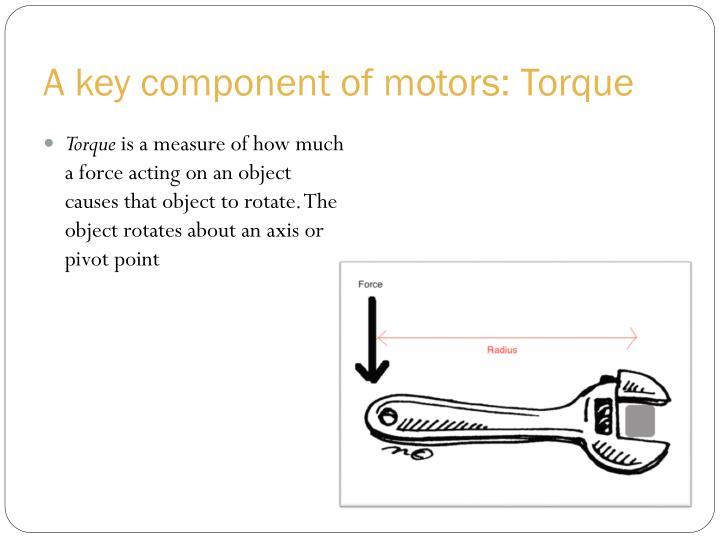A key component of motors: Torque