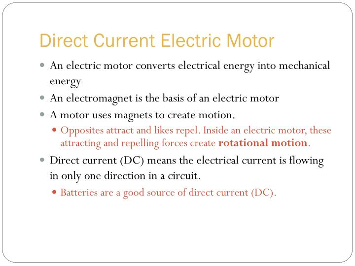 Direct Current Electric Motor