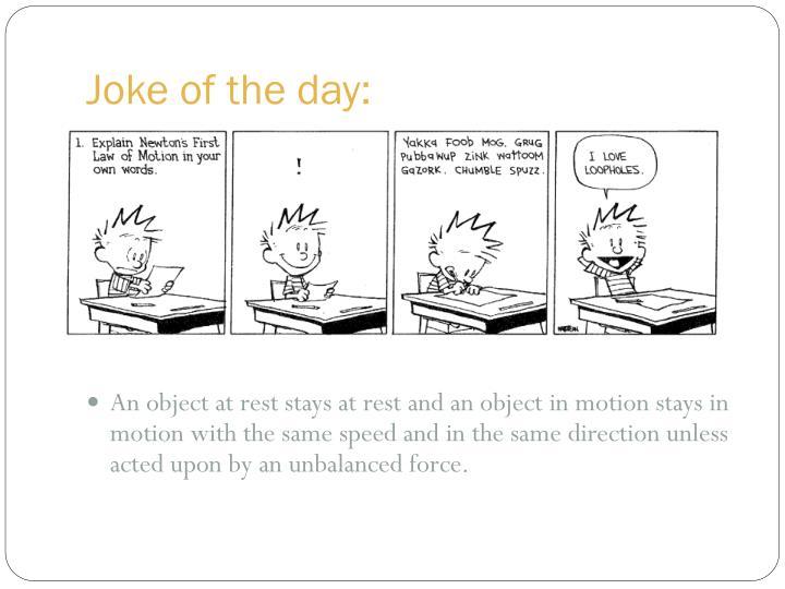Joke of the day: