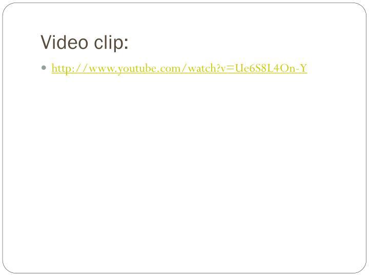 Video clip: