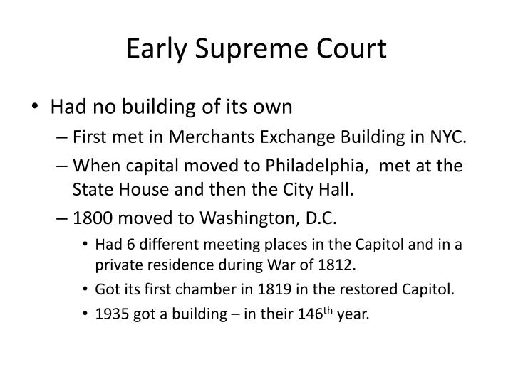 Early Supreme Court