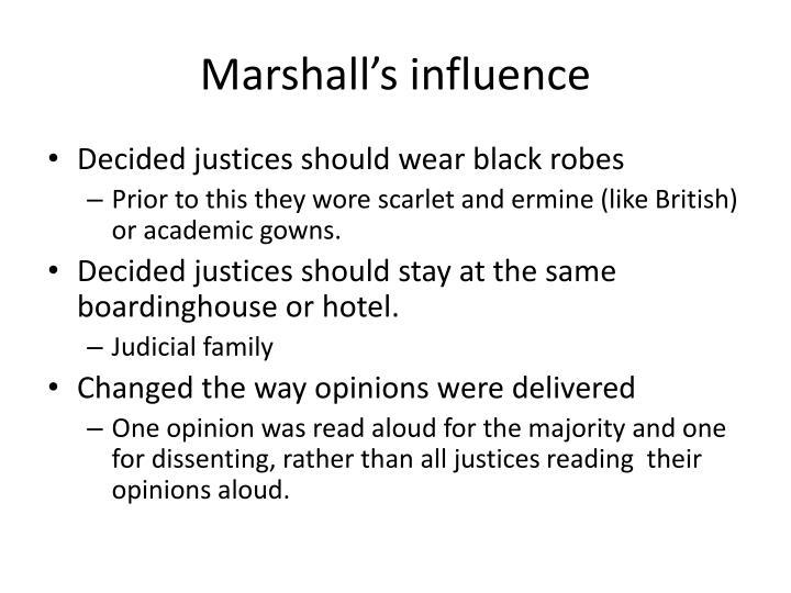 Marshall's influence