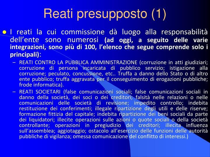 Reati presupposto (1)