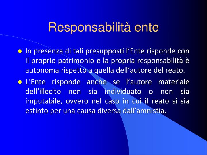 Responsabilità ente