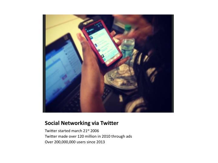 Social Networking via Twitter