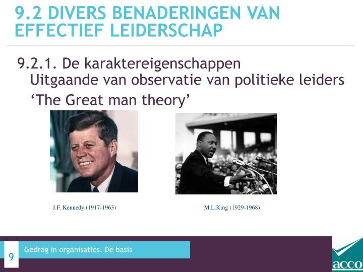 9.2 Divers benaderingen van effectief leiderschap