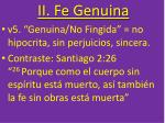 ii fe genuina