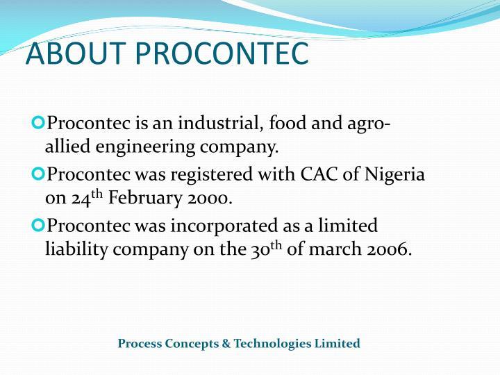 ABOUT PROCONTEC