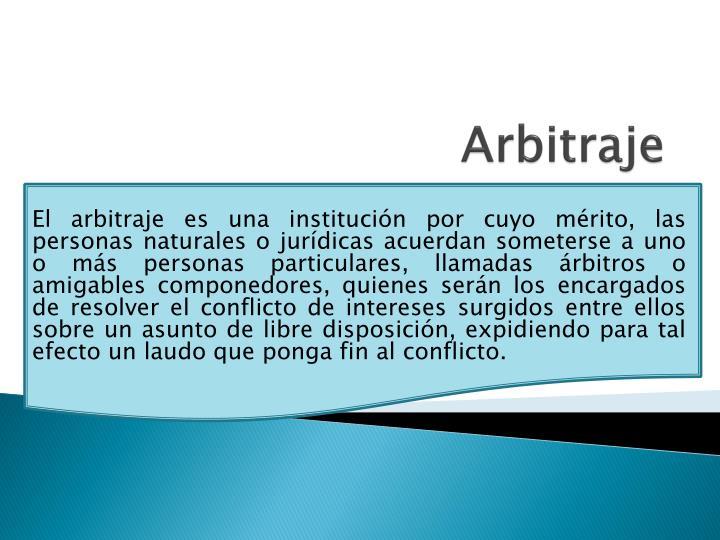 Arbitraje