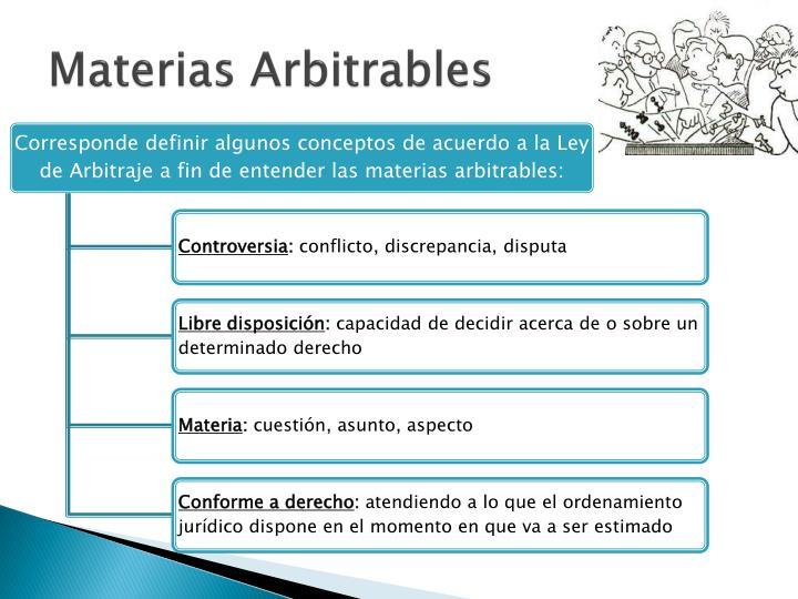 Materias Arbitrables