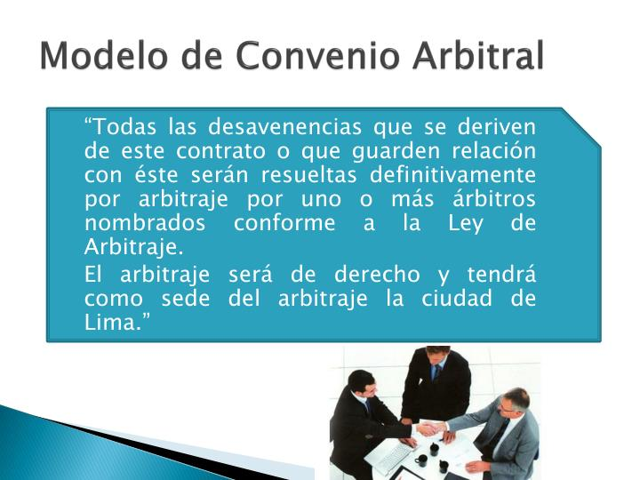 Modelo de Convenio Arbitral