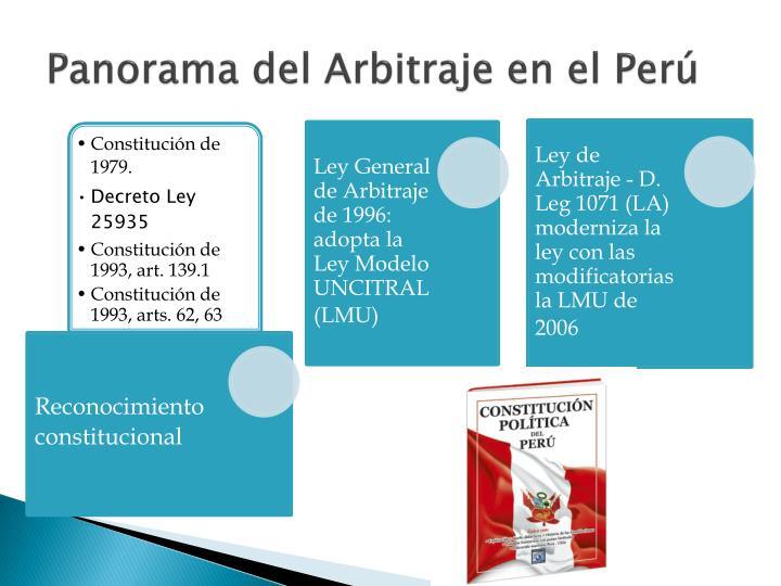 Panorama del Arbitraje en el Perú