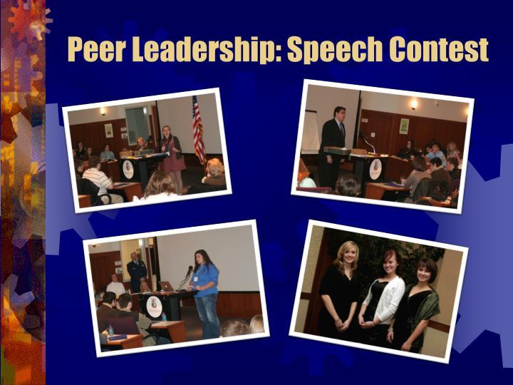 Peer Leadership: Speech Contest