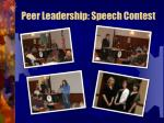 peer leadership speech contest