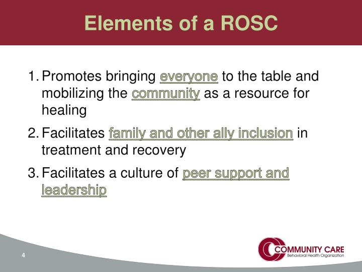 Elements of a ROSC