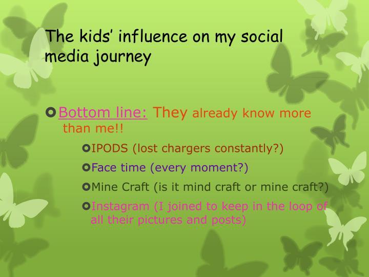 The kids' influence on my social media journey