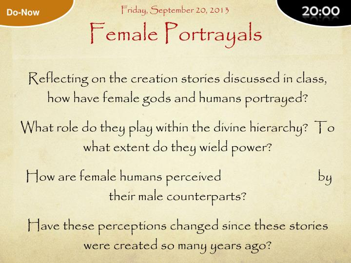 Female portrayals