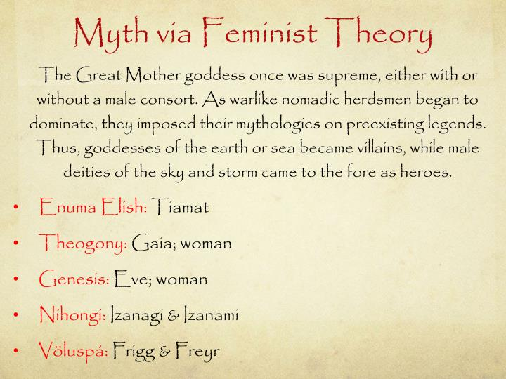 Myth via Feminist Theory