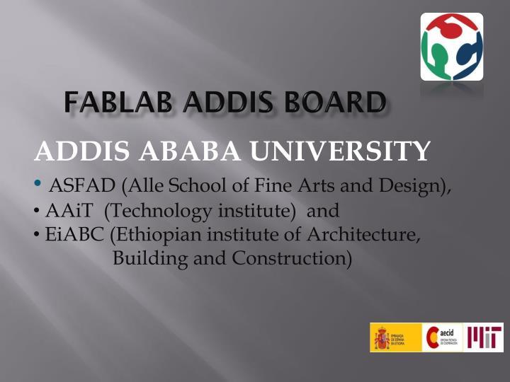 FABLAB ADDIS BOARD
