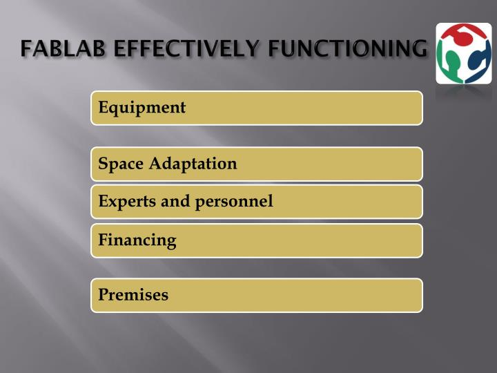 FABLAB EFFECTIVELY FUNCTIONING