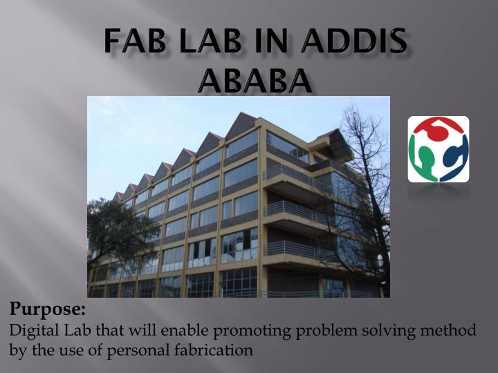 FAB LAB IN ADDIS ABABA