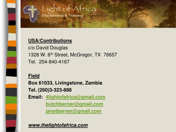USA/Contributions