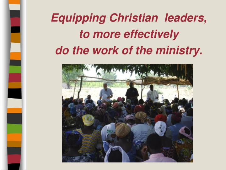 Equipping Christian