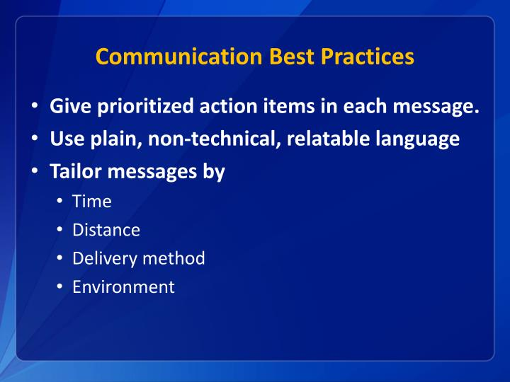 Communication Best Practices