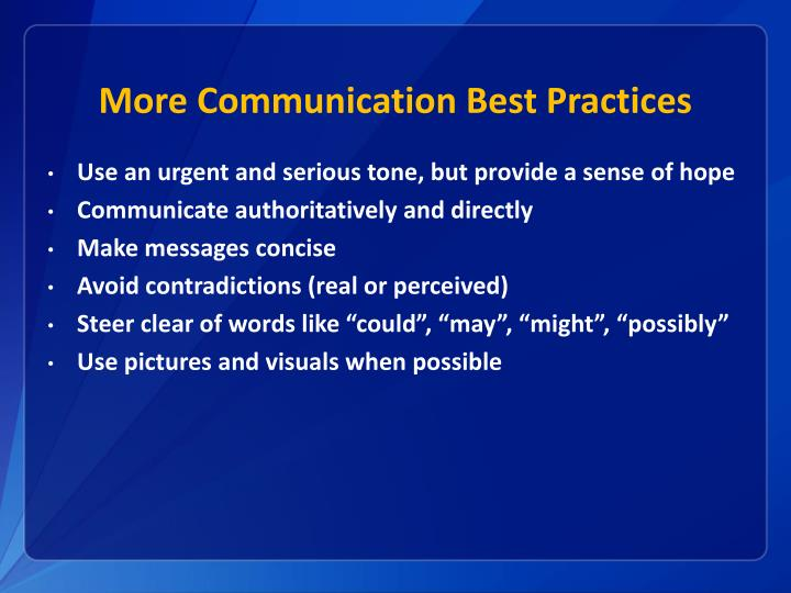 More Communication Best Practices