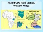 kemri cdc field station western kenya