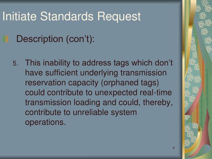 Initiate Standards Request