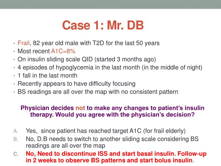 Case 1: Mr. DB