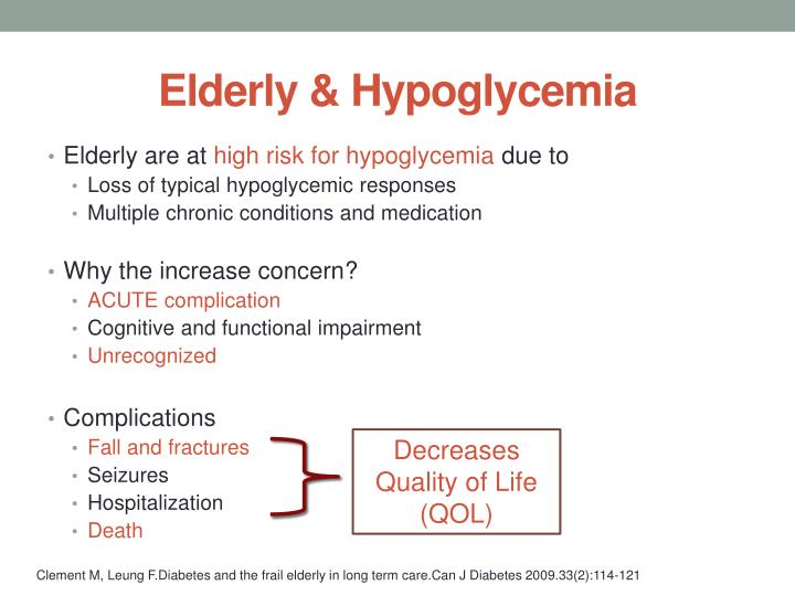 Elderly & Hypoglycemia