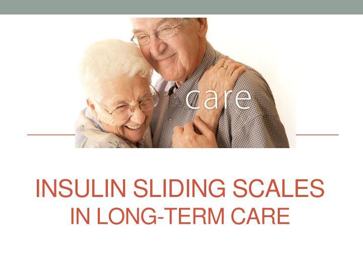 Insulin sliding scales