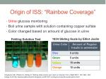 origin of iss rainbow coverage