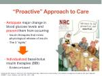 proactive approach to care