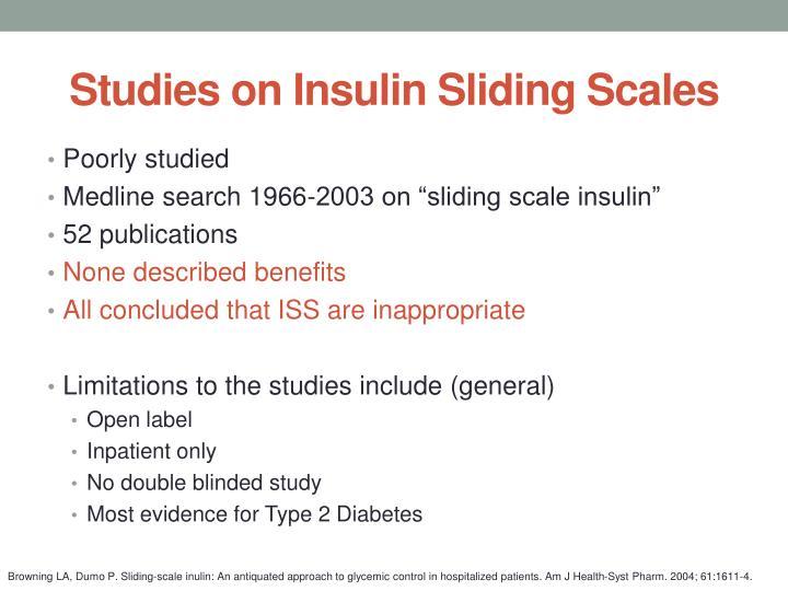Studies on Insulin Sliding Scales