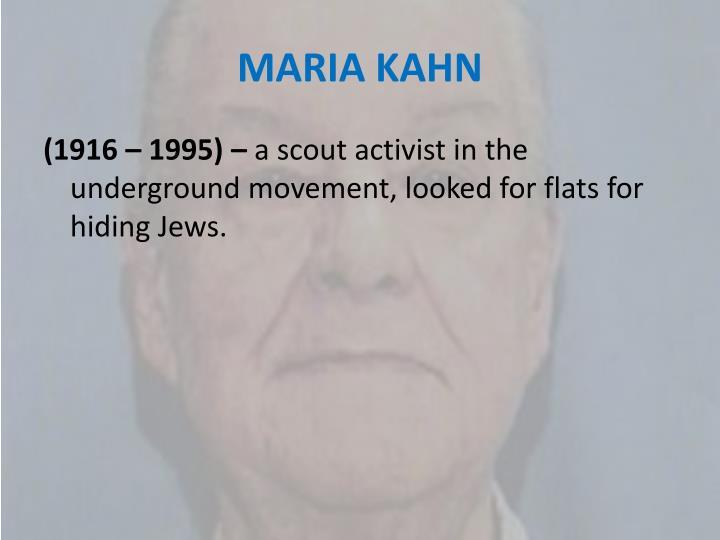 MARIA KAHN
