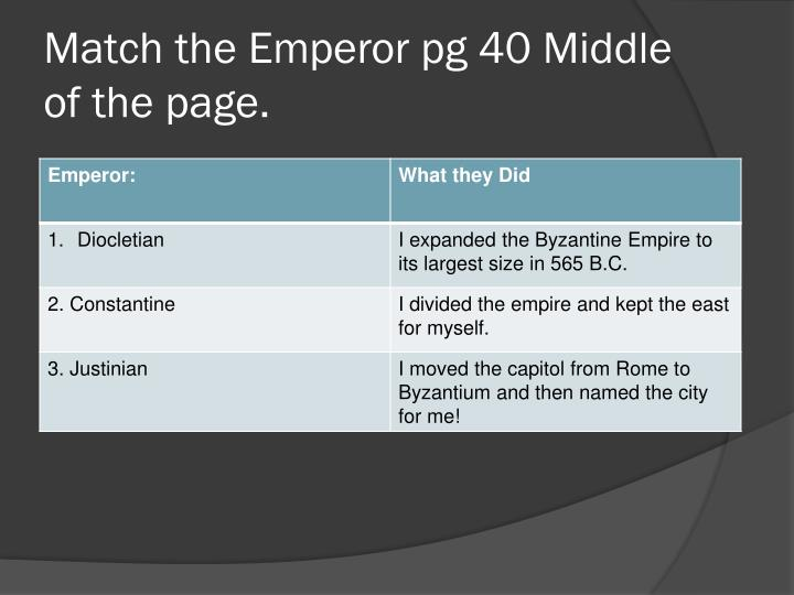Match the Emperor