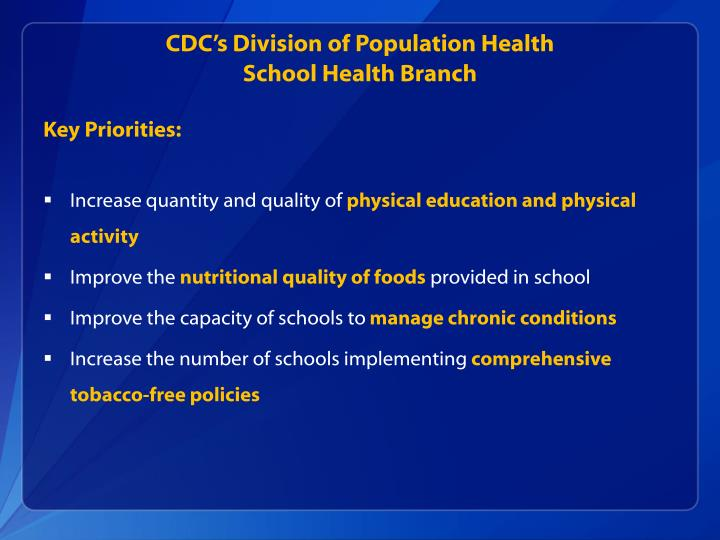 CDC's Division of Population Health
