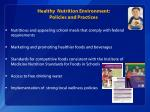 healthy nutrition environment policies and practices