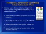 professional development and training training tools for healthy schools