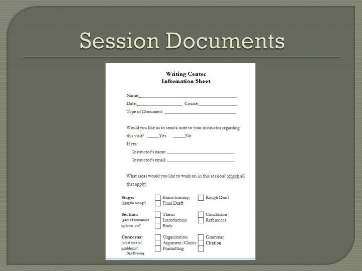 Session Documents