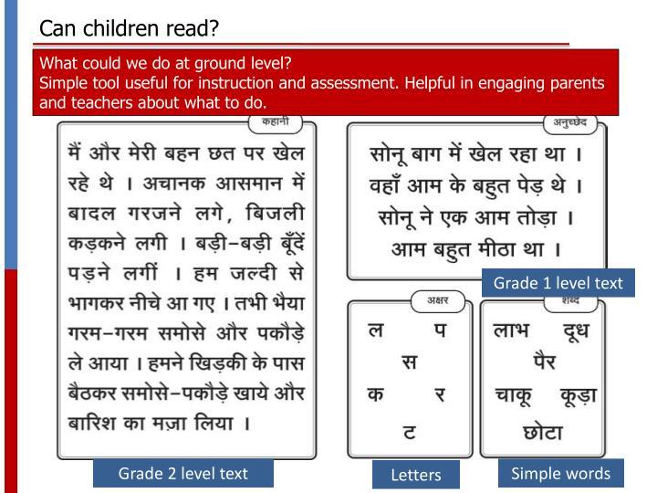 Can children read?