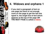 widows and orphans 1