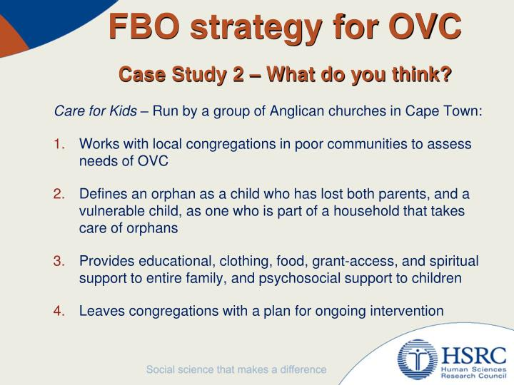 FBO strategy for OVC