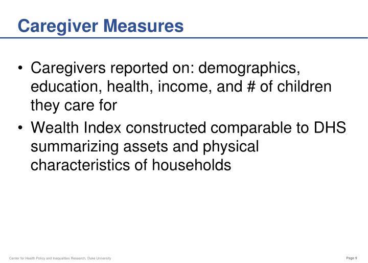 Caregiver Measures
