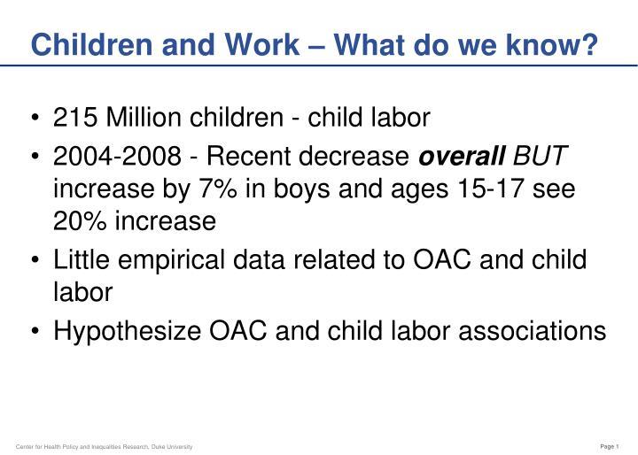 Children and Work