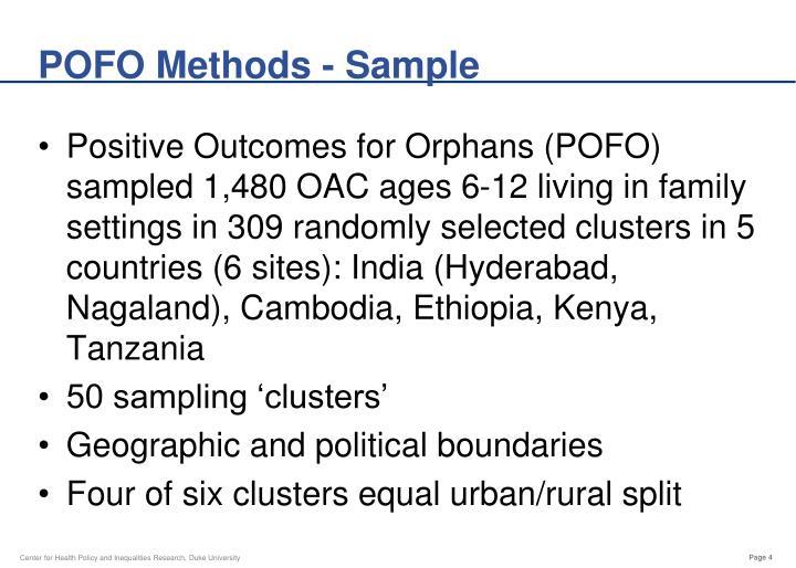 POFO Methods - Sample